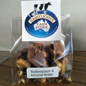 Dairylicious Butterscotch & Almond Brittle Fudge Slice