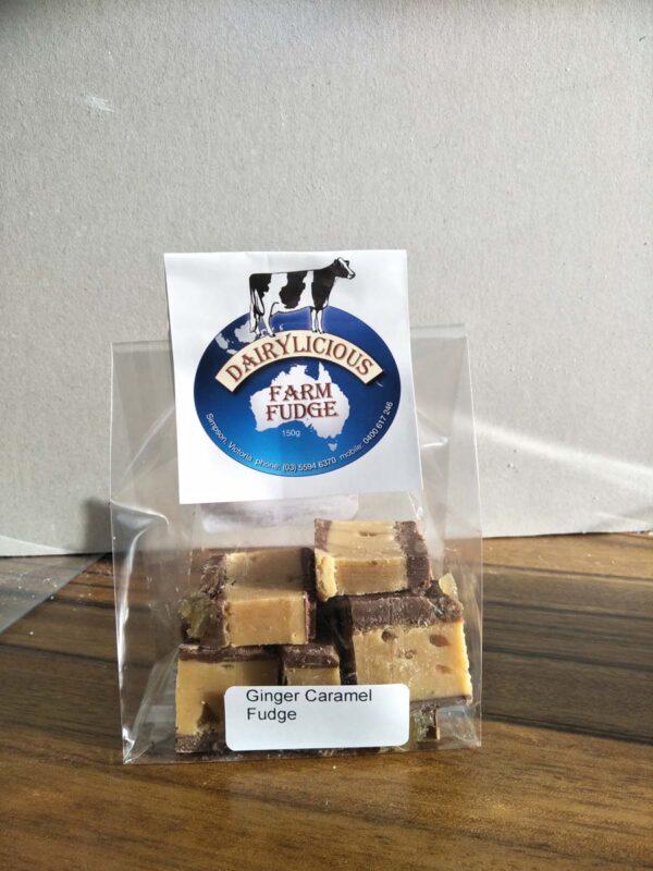 Dairylicious Ginger Caramel Fudge Slice