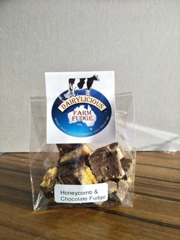 Dairylicious Honeycomb & Chocolate Fudge Slice