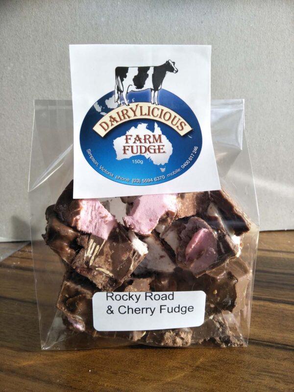 Dairylicious Rocky Road & Cherry Fudge Slice